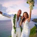 Dwayen Johnson With His Wife Lauren Hashian