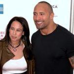 Dwayne Johnson with his ex wife Garcia