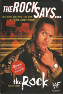 The Rock says cover page