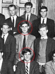 John Kerry (front) and Robert Mueller in the year 1962