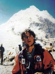 Bear Grylls on the Mount Everest climbing