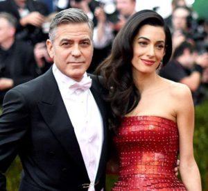 George Clooney with Amal Alamuddin