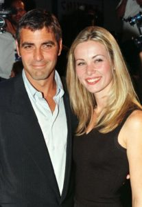 George Clooney with Celine Balitran