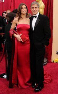 George Clooney with Jennifer Siebel