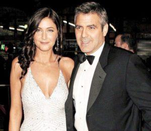 George Clooney with Lisa Snowdon
