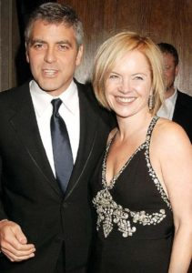 George Clooney with Mariella Frostrup