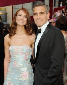 George Clooney with Sarah Larson