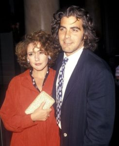 George Clooney with Talia Balsam