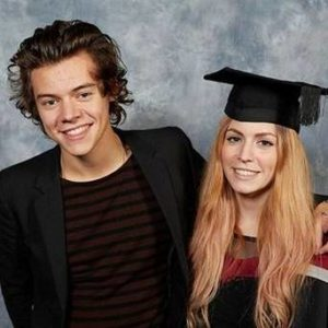 Harry Styles with his Sister