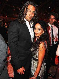 Jason Mamoa with his wife