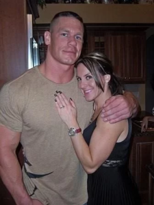John Cena with his Wife
