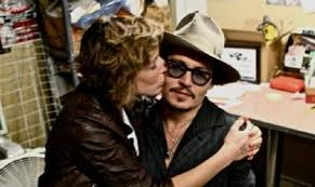 Johnny Depp with Kiley Evans