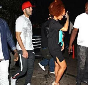 Karim Benzema and Rihanna