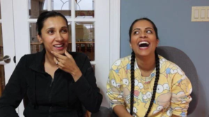 Lilly-Singh with her sister Tina Singh