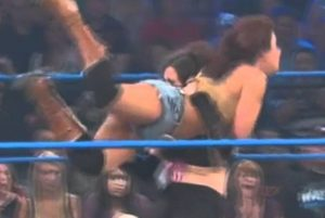 Mickie James DDT Finish Move