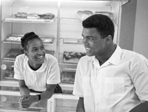 Muhammad Ali with Belinda Boyd