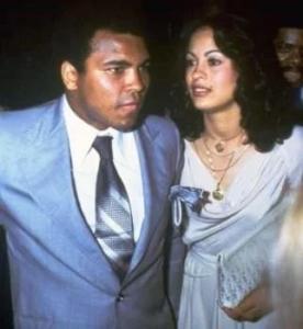Muhammad Ali with Veronica Porsche Ali