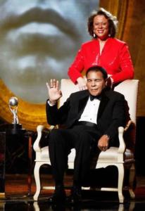 Muhammad Ali with Yolonda Williams