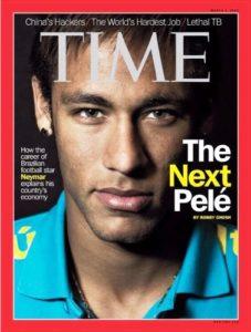 Neymar on TIME Magazine
