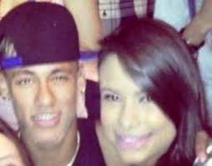 Neymar with Patricia Jordane