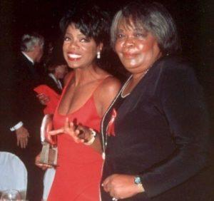 Oprah Winfrey with her Mother