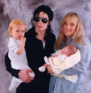 Michael Jackson with Debbie Row