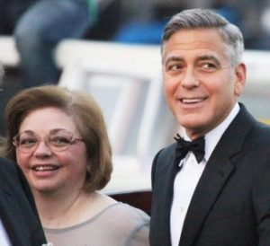 George Clooney with his Sister