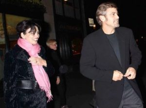 George Clooney with Karen duffy