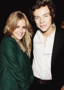 Harry Styles with Caroline Flack