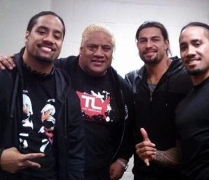 Jimmy Uso with his Fathers and Brothers