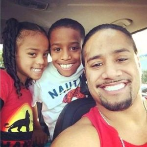 Jimmy Uso with his Kids