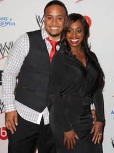 Jimmy Uso with his Wife