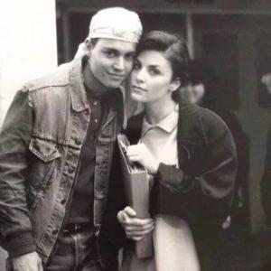 Johnny Depp with Sherilyn Fenn