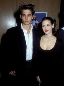 Johnny Depp with Winona Ryder