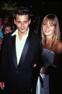 Johnny Depp with Kate Moss