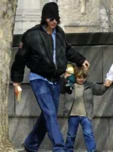 Johnny Depp with his Son