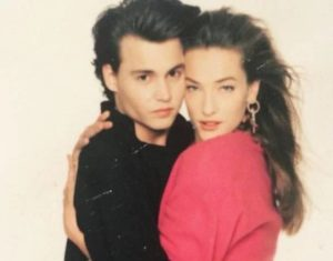 Johnny Depp with Tatjana Patitz