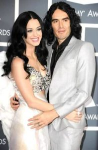 Katy Perry with Russel Brand
