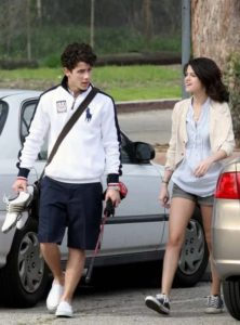 Nick Jonas with Selena Gomez
