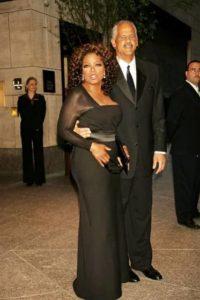 Oprah Winfrey with Stedman Graham