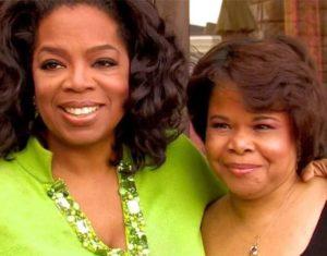 Oprah Winfrey with her Sister Patricia Lofton
