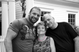 Triple H with his Parents