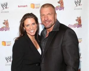 Triple H with his wife Stephanie