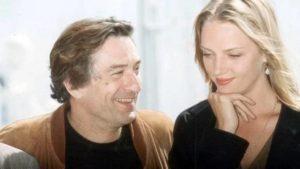 Robert De Niro with Uma Thurman