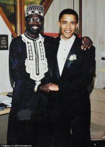 Barack Obama with his brother Malik Abongo Obama