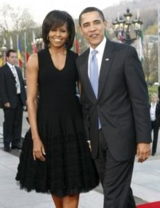 Barack Obama with his Wife