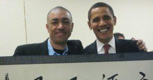 Barack Obama with his Brother Mark Okoth Obama Ndesandjo