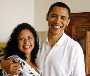 Barack Obama with his Sister Maya Soetoro-Ng