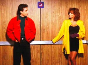 Jerry Seinfeld with Tawny Kitaen