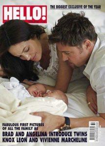 Hello Magazine Twins Picture Cover